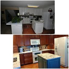 before and after gallery kitchen sales knoxville tn after homecrest madison cherry cinnamon cocoa perimeter and kemper herrington maple oasis opaque island cambria pra sands tops jeffrey alexander knobs and