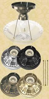 3 Chain Ceiling Light Fixture Vintage Hardware Lighting Antique Glass 3 Chain Ceiling Bowl