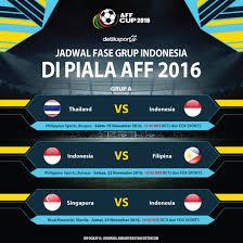 detiksport jadwal sepakbola indonesia indonesia vs thailand di laga pertama ini jadwal piala aff 2016