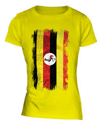 Images Of Uganda Flag Uganda Grunge Flag Ladies T Shirt Tee Top Ugandan Shirt Football