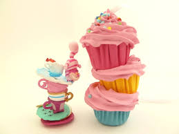 stacked cupcakes ornaments 3 mini cupcakes stacked