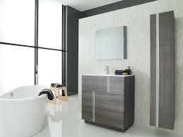 wall hung washbasin cabinet laminate contemporary lacquered