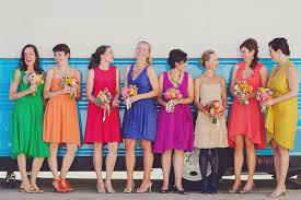 colored bridesmaid dresses rainbow colored bridesmaid dresses wedding dress shops