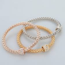 silver gold plated bracelet images 2016 fashion jewelry bracelets bangles gold silver rose gold jpg