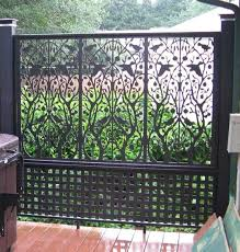 Pvc Room Divider by Lattice Fence Design Outdoor Screen Room Outdoor Screens And