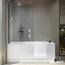 clear glass floor l duravit shower bath bath with shower zone for left corner clear