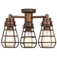 3 Light Ceiling Fan Light Kit by Oil Rubbed Bronze Industrial Cage 3 60 Watt Ceiling Fan Light Kit
