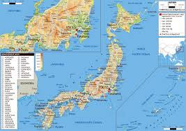 World Physical Map by Large Physical Map Of Japan With Roads Cities And Airports