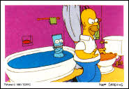Simpsons Bathroom The Simpsons Archive The Simpsons Diamond Stickers And Albums