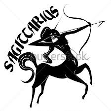 sagittarius zodiac signs silhouettes isolated on white