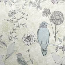 Wallpaper With Birds Bird Wallpaper Hand Drawn Birds And Flowers Design Surface House