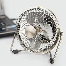 Desk Fan Small Usb Desk Fan Powerful Airflow Electrocoppering Metal