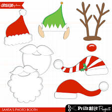free printable photo booth props template santa hat clipart photo booth prop pencil and in color santa hat