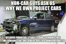 Project Car Memes - because project car