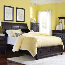 queen sleigh bed with storage by broyhill furniture wolf and