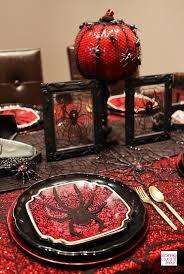halloween dinner party table 3 ways black widow spider theme