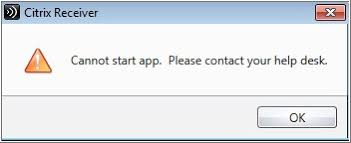 Citrix Help Desk by Cannot Start App Ccs Ryerson University
