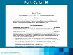 Resume Font Size 10 9 Resume Fonts Designers Love
