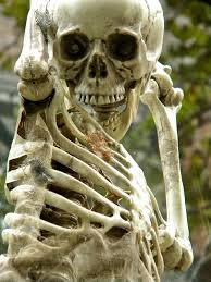 halloween decorations manacled hanging skeleton public domain clip