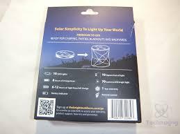 review of bright outdoors go solar lantern technogog