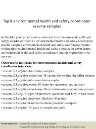 hse coordinator cover letter