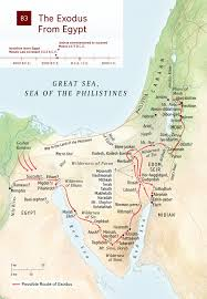 A New Map Of Jewish by Map Exodus From Egypt Nwt