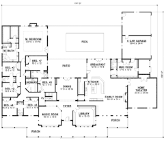 5 bedroom 1 story house plans country style house plan 7 beds 6 00 baths 6888 sq ft plan 67 871