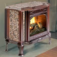 Direct Vent Pellet Stove Sterling Dv 8532 Brown Enamel Cast Iron U0026 Brown Granite By