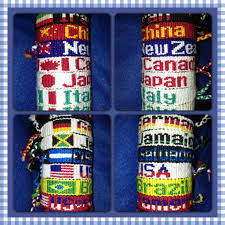 Conutry Flags Country Flags Friendship Bracelets