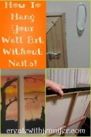 how to hang without nails how to hang canvas art without nails or stress or studfinders