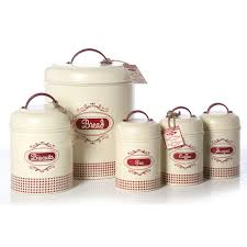 red u0026 cream vintage gingham canister set home ideas pinterest