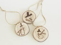 rustic snowman ornaments 3 tree slice ornaments by vaniteaz