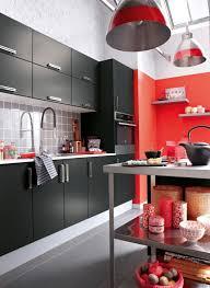 cuisine gris et noir decoration cuisine aluminium
