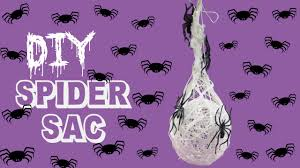 creepy spider sac craft tutorial youtube