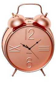 salt u0026pepper zone 9cm rose gold alarm clock myer online