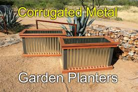 redwood and metal planters how to youtube