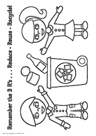 coloring pages recycling color az magnificent recycleing