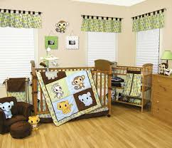 Nature Themed Crib Bedding Trend Lab Chibi Zoo Nursery Collection Baby Care Solutions