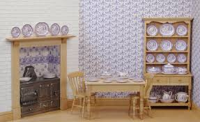dolls house kitchen furniture stokesay ware miniature dolls house china blue willow kitchen