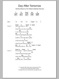 Wedding Dress Chord Day After Tomorrow By Tom Waits Guitar Chords Lyrics Guitar