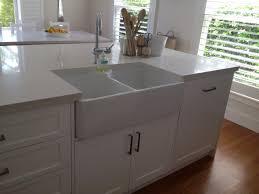 Kitchen Island With Sink This Kitchen Island Has A Butler Sink Shaker Polyurethane Doors