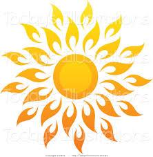 sun vector clipart of a bright summer sun with petal rays 1
