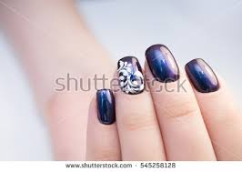 perfect manicure natural nails attractive modern stock photo