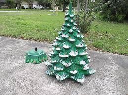 vintage ceramic lighted christmas tree large hand painted what u0027s