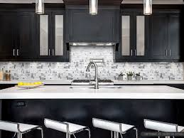 modern tile backsplash ideas for kitchen modern espresso cabinet white glass metal kitchen backsplash