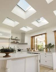 Cream Gloss Kitchen Ideas Kitchen Beautiful Skylight Kitchen Ideas With Regtangle Glass