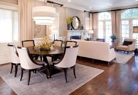 Cream Colored Dining Room Furniture by Gray Fabric Chairs On Rug Furniture Stylish Ideas White Dining