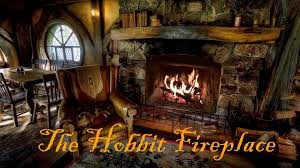 hobbiton movie set fireplace ambience featuring pickles the cat