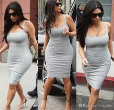 2017 celebrity bandage dress kim kardashian knee length dress