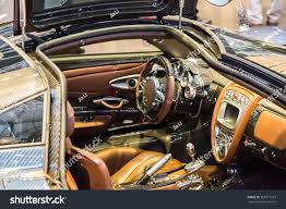 pagani interior geneva mar 3 pagani huayra car stock photo 265917155 shutterstock